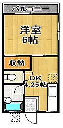 千葉県流山市大字西深井の賃貸アパートの間取り