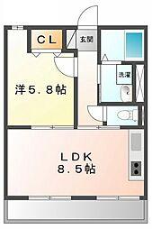 レトア小松[1階]の間取り