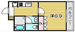エスポアール[105号室]の間取り