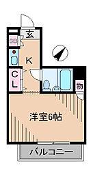 神奈川県横浜市港北区綱島東4丁目の賃貸マンションの間取り