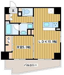 ベル・ルーナ北梅田[1階]の間取り