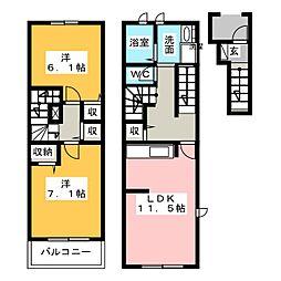 フレシール[2階]の間取り