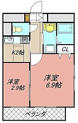アベニュー黒崎[903号室]の間取り