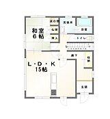 「1階間取り図」1階面積65.98m2