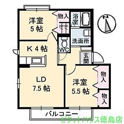 シャーメゾン小松島 B[101号室]の間取り