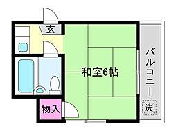 兵庫県神戸市東灘区御影中町1丁目の賃貸マンションの間取り