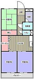 ハイツみやび(福元町)[2階]の間取り