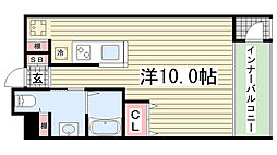 エス・キュート御影[102号室]の間取り