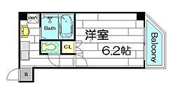 プレミアムAWAZA(旧ドエル立売堀)[8階]の間取り