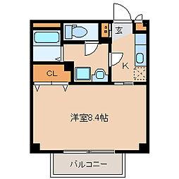 レジデンス武庫川2[2階]の間取り
