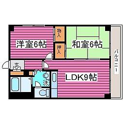 北海道札幌市東区東苗穂十三条3丁目の賃貸マンションの間取り
