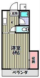 西井ハイツs[1階]の間取り