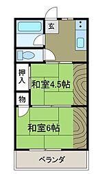 東林サンハイム[2階]の間取り