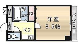 ヴェルメゾン大宅[307号室号室]の間取り