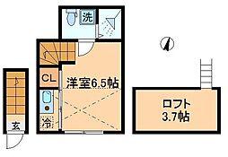 happy 上板橋[202号室]の間取り