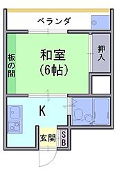 第一ロイヤルハイツ[4階]の間取り