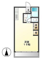坪井マンション[3階]の間取り