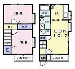 萩原テラス[2階]の間取り