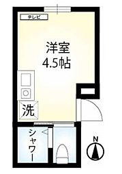 JR山手線 鶯谷駅 徒歩5分の賃貸マンション 3階ワンルームの間取り