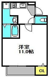 大阪府豊中市三和町1丁目の賃貸アパートの間取り