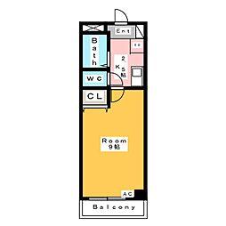 A・City日の出[6階]の間取り