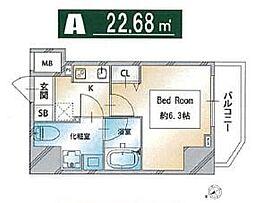 都営三田線 西巣鴨駅 徒歩3分の賃貸マンション 8階1Kの間取り