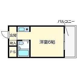 アスティオス桜ノ宮[2階]の間取り