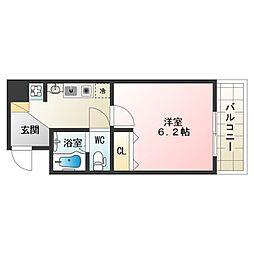 大阪府大阪市阿倍野区三明町2丁目の賃貸マンションの間取り