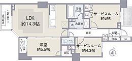 サービスルームは寝室の他、書斎やホビールームにも最適