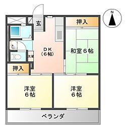 日新ビル[603号室号室]の間取り
