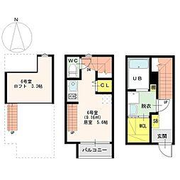 メゾン生駒町[1階]の間取り