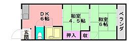 柴田コーポ[302号室]の間取り