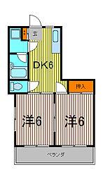 ベル・テラス・板橋[2階]の間取り