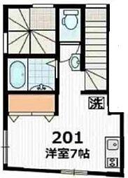 ディアマンテ椎名町[201号室号室]の間取り