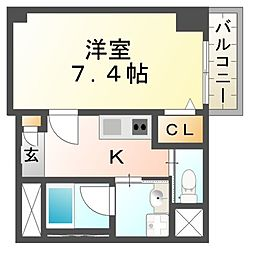 リエス尼崎東[11階]の間取り