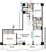 4階部分南東向3LDK、平成28年12月スケルトンからの室内新規リノベーション済