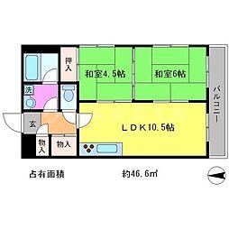 レジデンス岩倉[4階]の間取り