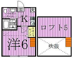 コンパートメントハウス西新井[2階]の間取り