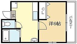 広野町マンション[2階]の間取り