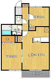 カッツェンアパートメント[1階]の間取り