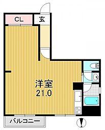 小谷マンションB棟[7階]の間取り