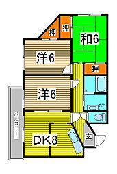 サニーパーク壱番館[2階]の間取り