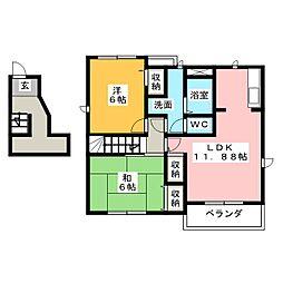 セルカフロレスタA[2階]の間取り