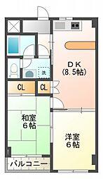 メゾンドエクレール[2階]の間取り