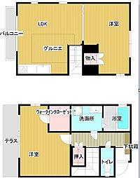 [テラスハウス] 東京都三鷹市新川6丁目 の賃貸【/】の間取り
