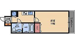 セレブコート梅田[5階]の間取り