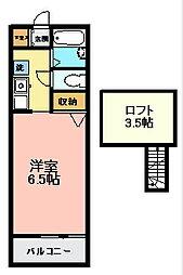 パピエ大和田[2階]の間取り