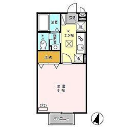 ハウス富士[101号室]の間取り