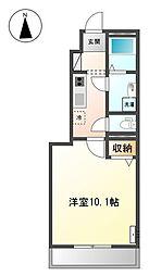 伊予鉄道横河原線 石手川公園駅 徒歩9分の賃貸アパート 1階1Kの間取り
