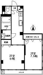 第一マンション四谷[301号室号室]の間取り